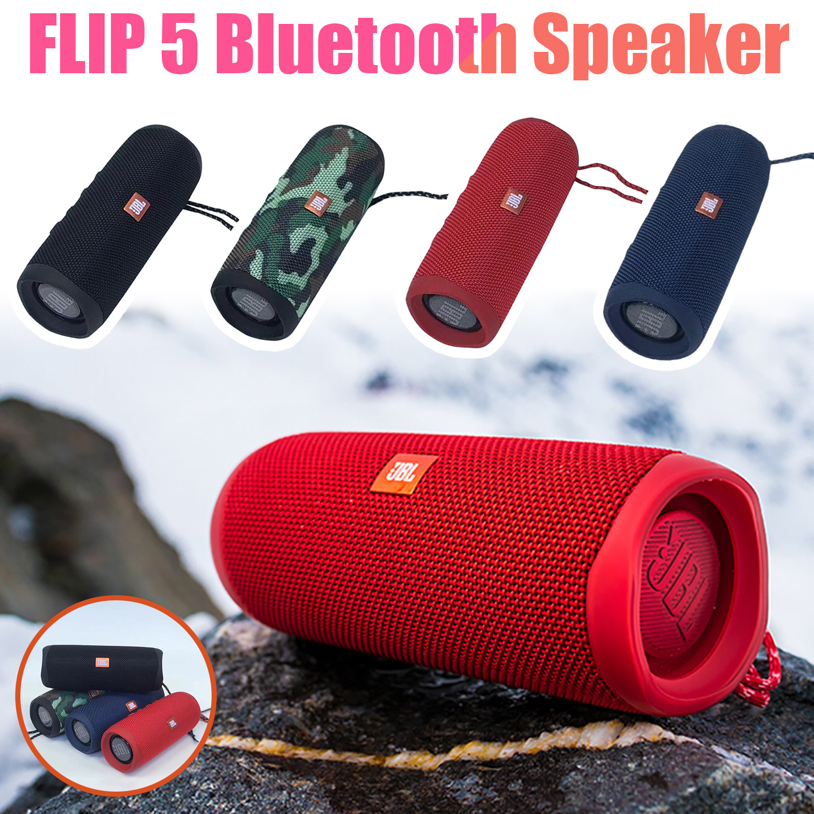 NEW Flip 5 Powerful Bluetooth Speaker Mini Portable IPX7 Waterproof Wireless Music Partybox Outdoor Travel Party