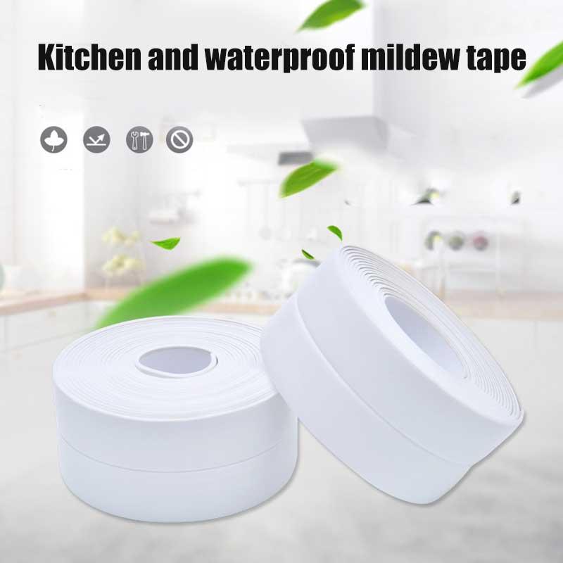 >Self Adhesive Tape Bathtub Bathroom Shower Toilet Kitchen Wall Sealing <font><b>Waterproof</b></font> <font><b>Mildewproof</b></font> Tape can CSV