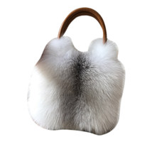 Fox fur big bag 2020 new ladies luxury real fox fur bag large size handbag shoulder bag gift diagonal package
