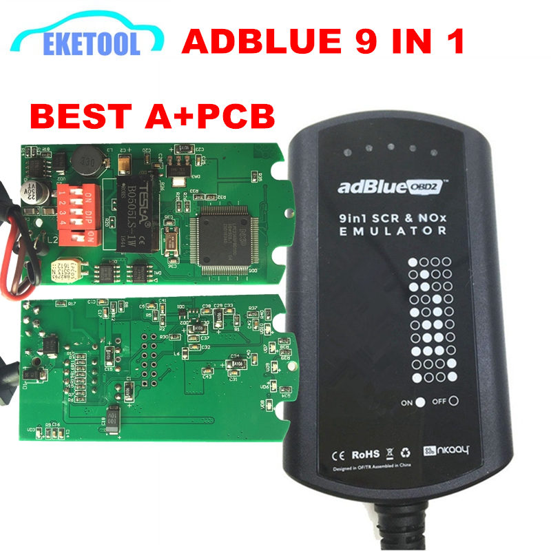 Newest A  Full Chip Adblue 9 IN 1 Upgrade Adblue 8 IN 1 8in1 For 9 Trucks Ad Blue Emulator Heavy Duty No Need Any Software