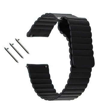 20/22 MM Genuine Leather Watchband Magnetic Clasp Strap for Samsung Gear S2/S3 Sport Galaxy Watch 42/46mm Band