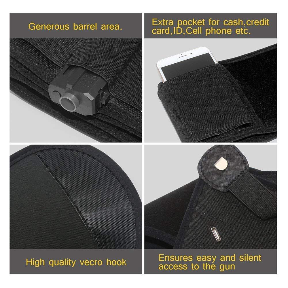 coldre invisível cinto saco escondido transportar elástico