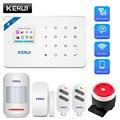 KERUI W18 Беспроводная аварийная сигнализация wifi GSM Android ios приложение управление домашняя охранная сигнализация с PIR датчиком движения ip-камера
