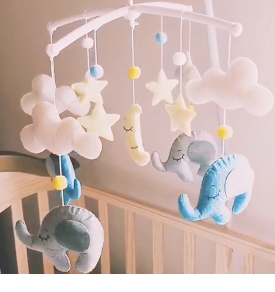 Cartoon Baby Rattles Bracket Set Toy Mobile For Crib Baby Toys 0-12 Months Handmade DIY Bed Bell Material Package Toys For Kids