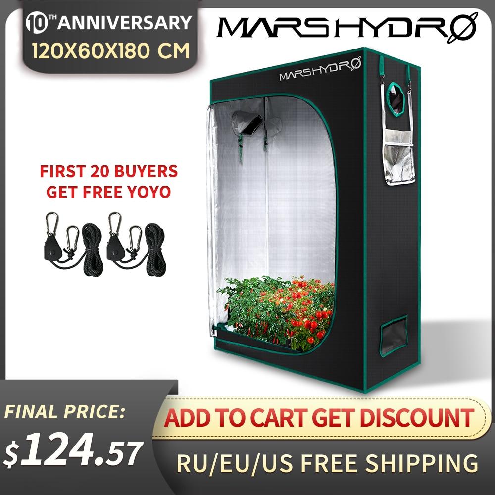 120x60x180cm Mars Hydro Grow Tent 1680D 48''x24''x70''  Hydroponic Grow Box Indoor Room Non Toxic Tent