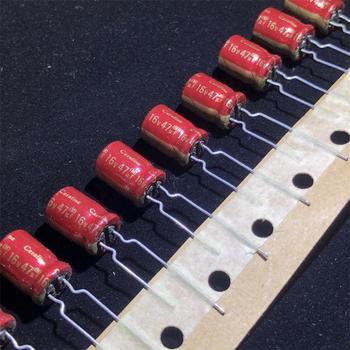 30pcs/lot Original ELNA Cerafine Series Red leather Matte fever audio and sound electrolytic capacitors Free Shipping 30pcs lot original nichicon sw series 6 3 to 50v ultra miniature audio fever aluminum electrolytic capacitor free shipping