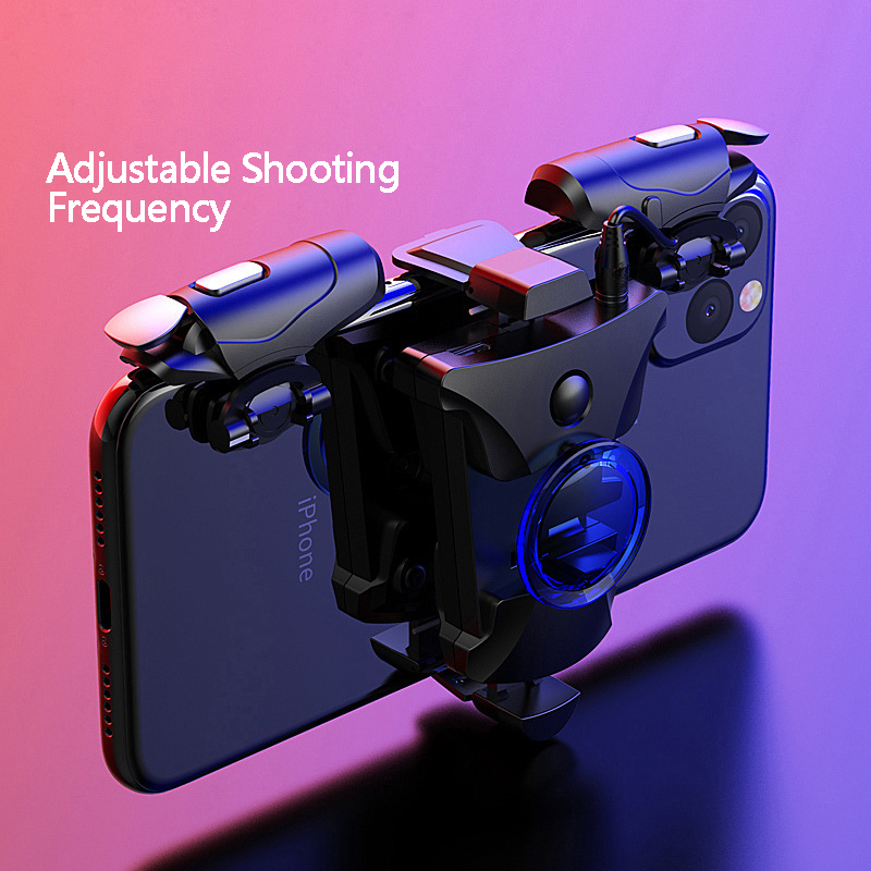 Mobile Gamepad Alloy Joystick Smartphone Gaming Controller For Iphone Android PUBG Gamepad Shooter Trigger Button Control Handle