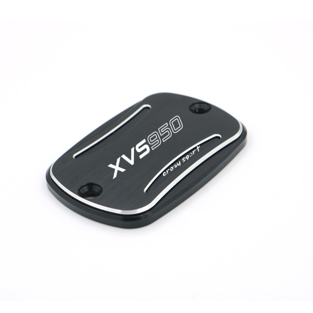 Front Brake Reservoir Cover For <font><b>YAMAHA</b></font> <font><b>XVS950</b></font> XVS 950 BOLT 2014-2019 2018 2017 Motorcycle CNC Oil Fluid Cap Black With Logo image