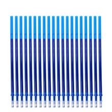 цена на 20Pcs/Set Office Gel Pen Erasable Refill Rod Magic Erasable Pen Refill 0.5mm Blue Black Ink School Stationery Writing Tool Gift