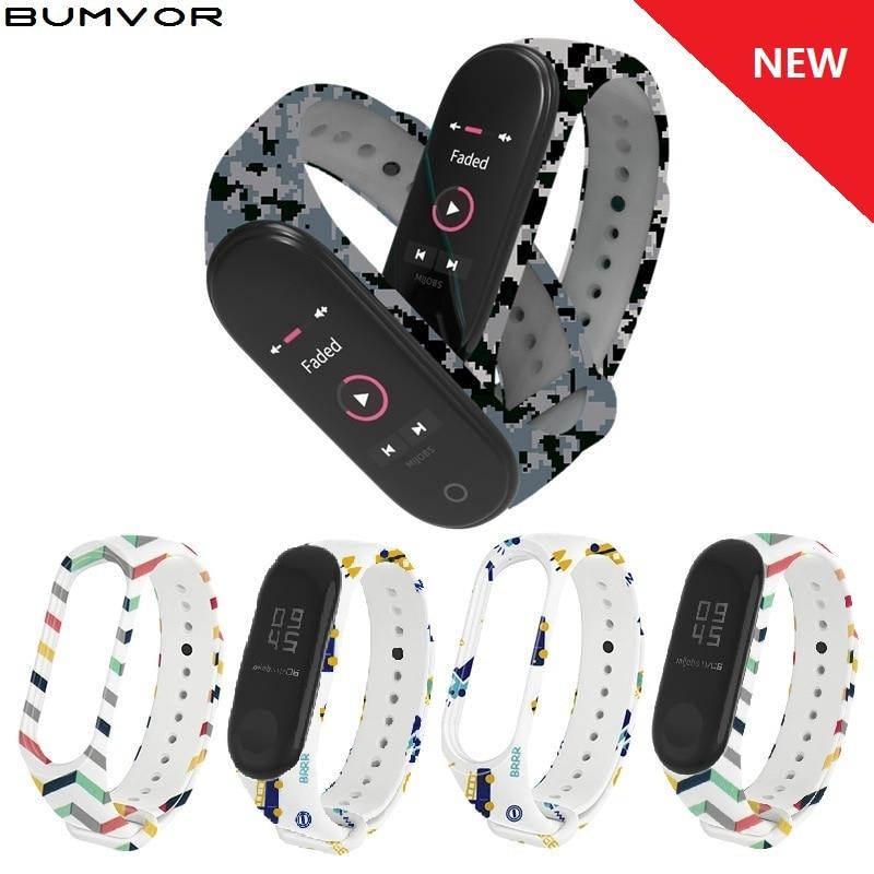 Miband 3 4 Pulsera Correa Wrist For Mi Band 3 4 Strap Silicone Wriststrap For Xiaomi Band Smart Bracelet Wristband Sports Watch