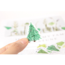 45pcs/box Lovely Green Forest Sticker Marker Planner Diary School Stationery Stickers Scrapbooking Bullet Journal
