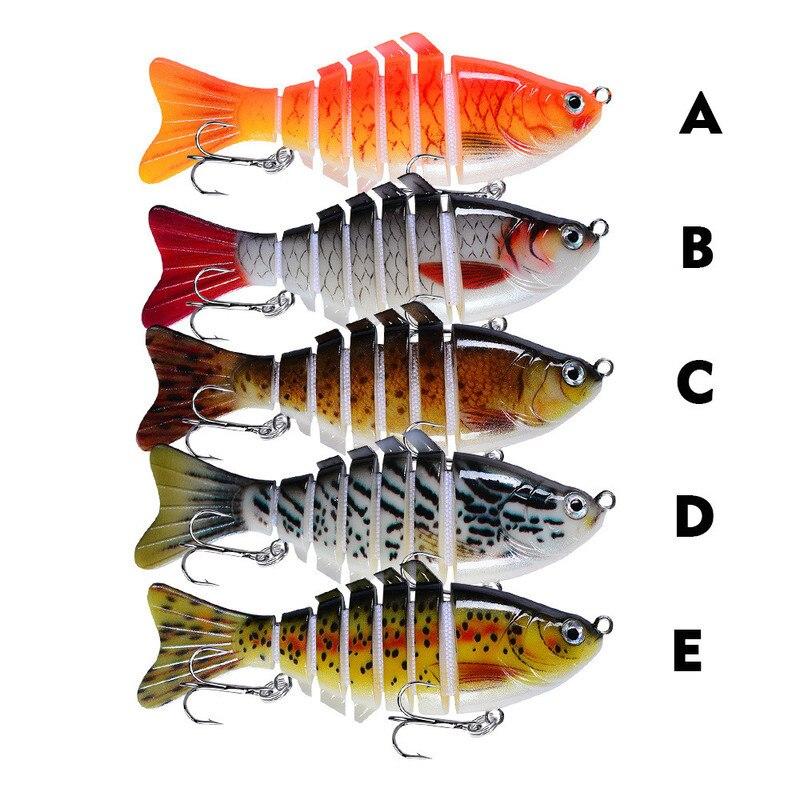 Fishing Wobblers Lifelike 6 Segment Swimbait Crankbait Hard Bait Slow 10cm 17g Isca Artificial Lures Fishing Tackle