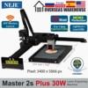 Máquina de grabado láser 2021 Master 2s Plus, área de trabajo, 255x440mm, grabado de Metal, madera, corte rápido, 30 vatios