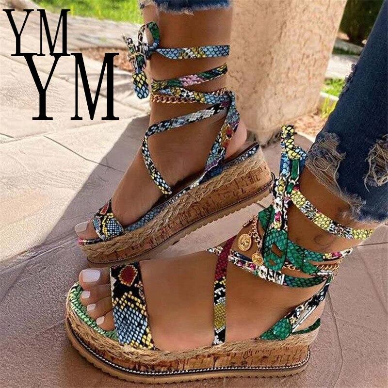 HOT Sandals Women Wedges Shoes Pumps High Heels Sandals Cross Strap Summer Flip Flop Chaussures Femme Platform Sandalia Feminina