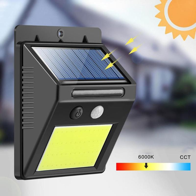 48LEDs Solar COB LED Wall Light Smart PIR Motion Sensor Wall Mount Lamp Super Bright LED Lighting