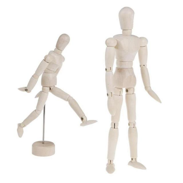 Wooden Artist Movable Limbs Male Wooden Toy Figure Model Mannequin bjd Art Sketch Draw Action Toy Figures 3