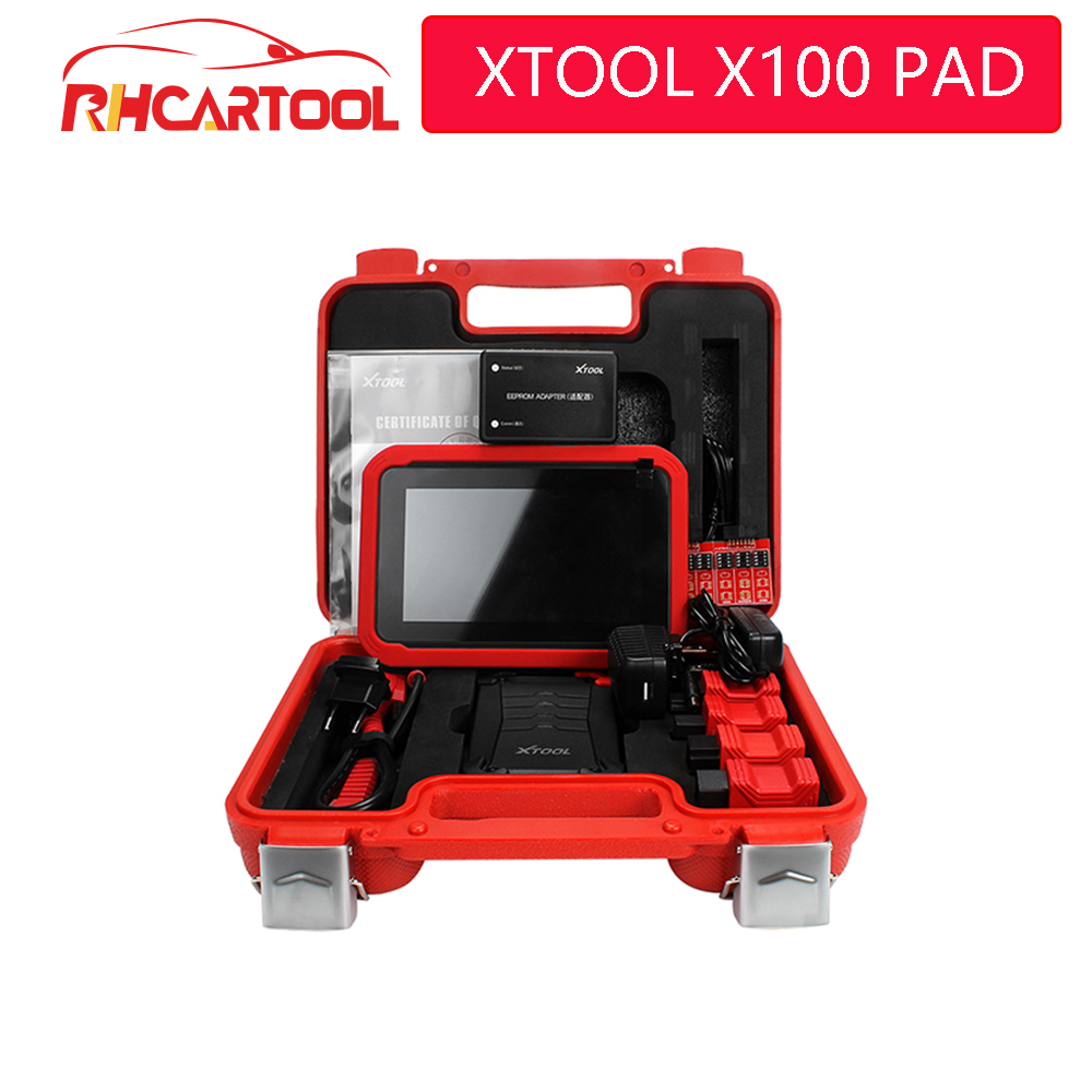 Newest OBD2 XTOOL X100 PAD X 100 Auto Car Key Programmer With Oil Rest Tool And