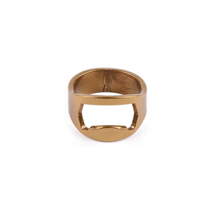 1 sztuk wielofunkcyjny ze stali nierdzewnej kolorowy pierścień kształt otwieracz piwa butelka otwieracz średnica 22mm