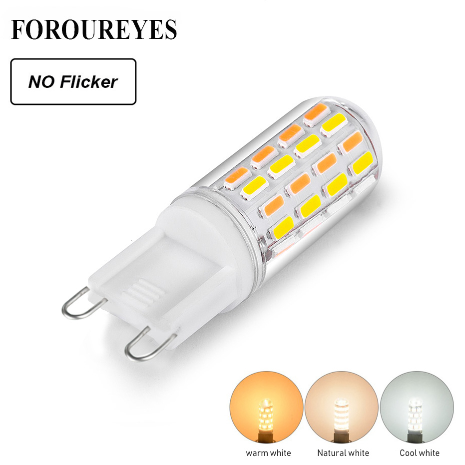G9 Led Bulb 220V 4014 Three Color Temperature No Flicker Led Lighting Super Bright Replace 40W Halogen Lighting 2years Warranty