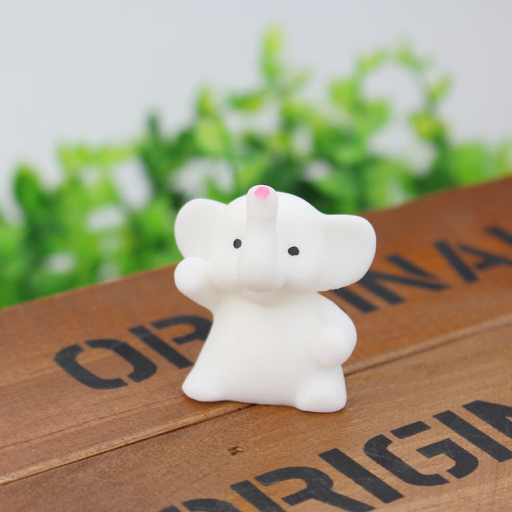 Relax Toys 4CM Cute Elephant Mochi Squishy Squeeze Healing Fun Kids Kawaii Toy Stress Reliever Deco Squishy Animals
