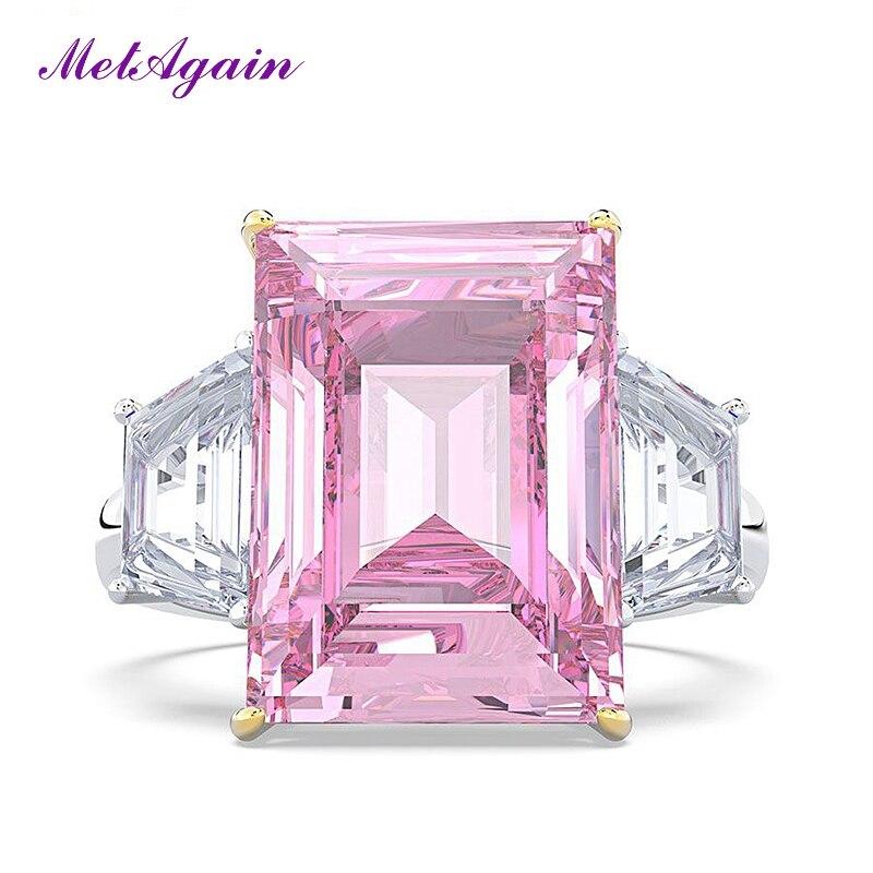 Metagain gorąca sprzedaż 100% prawdziwe 925 srebro pierścionki dla kobiet moda Wedding Party pierścień luksusowe S925 biżuteria prezent Dropshipping