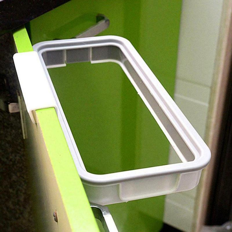 1Pcs Portable Hangable Kitchen Garbage Rack Cabinet Storage Garbage Bags Garbage Hanging Rack Holder