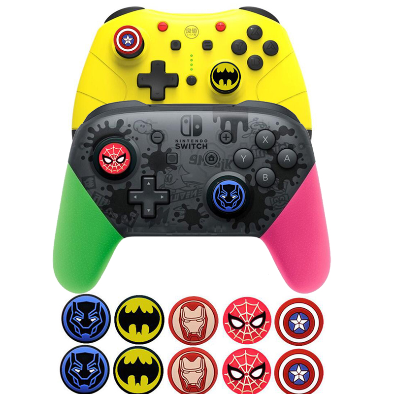 Batman IronMan Thumb Stick Grip Cap Thumbstick Joystick Cover Case For Sony PS3 PS4 Slim Xbox One 360 Switch Pro Game Controller
