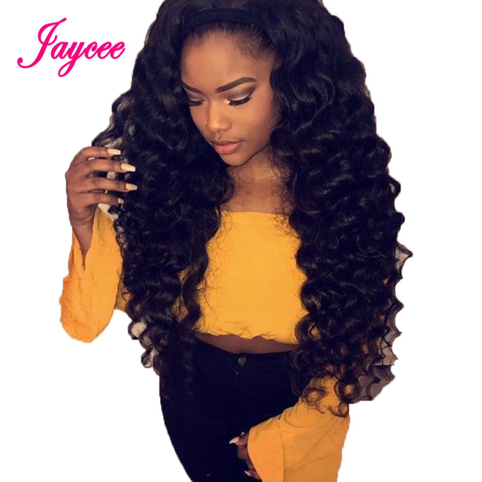 Wig Human-Hair Lace-Frontal Deep-Wave 360 with for Black-Women Pre-Plucked
