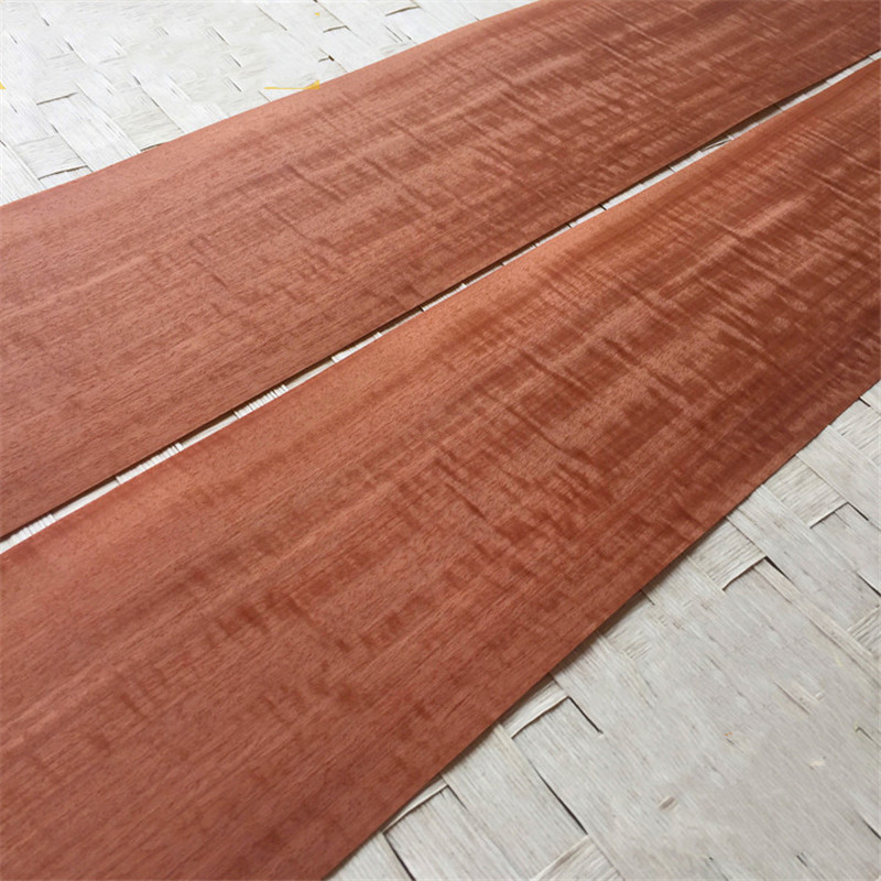 2x Natural Genuine Makore Figured Macore Q/C Decorative Sliced Veneer For Furniture 17x250cm
