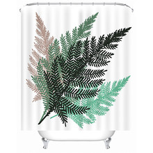 Sholisa Bathroom shower curtain Digital printed leaf 3D waterproof and opaque poly thick used for deco