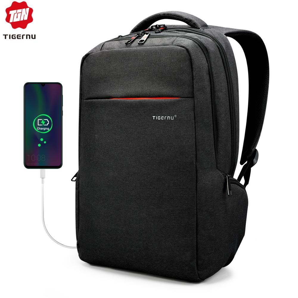 Tigernu marque mode affaires sac à dos pour hommes carnet de voyage pochette d'ordinateur 15.6 pouces Anti-vol mâle Mochila pour les femmes