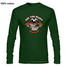 Nuova maglietta nera da uomo sottile Lizzy timberirlanda Rock Band Legend taglia S a 3XL maglietta all'ingrosso O collo