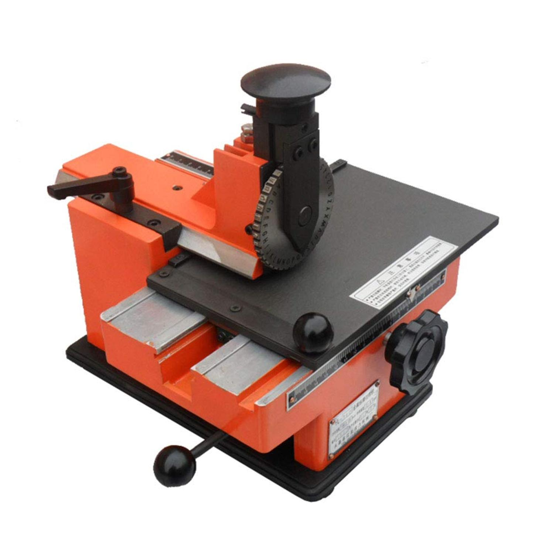 Semi-automatique feuille Embosser métal acier inoxydable estampage imprimante chien étiquette gaufrage plaque signalétique équipement de marquage étiquettes outils