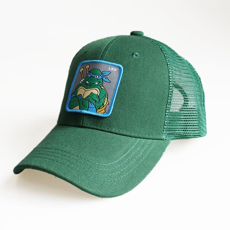 2020 New Mesh Baseball Cap Cartoon Ninja Turtles Caps For Men Women Snapback Gorras Hombre Hats Casual Hip Hop Caps Dad Hat