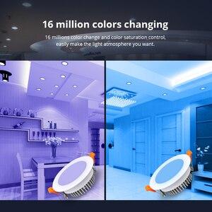 Image 5 - مصباح سقفي ذكي 12 واط زيجبي 3.0 RGBW Led متوافق مع إضاءة سقفية ذكية