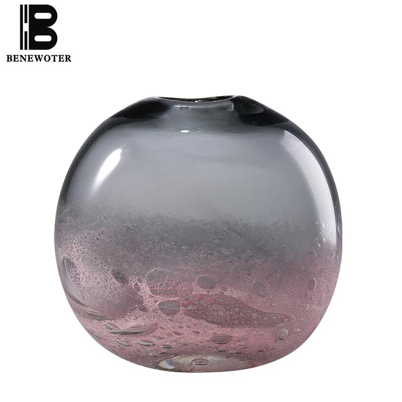 Nordique créatif verre Vase décor à la maison artisanat hydroponique plante fleur Pot planteur séché fleur bouteille conteneur ornement artisanat