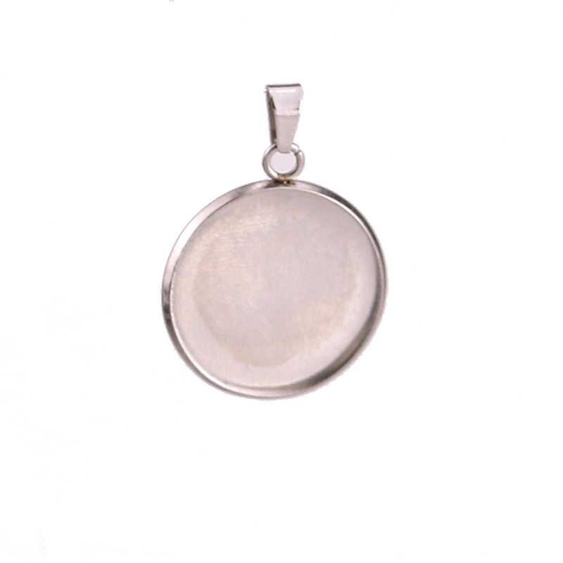10 Cái/lốc Thép Không Gỉ Cabochon Cameo Vòng Đeo Tay Hạt Charm Forjewelry Làm Vòng Cổ Mặt Dây Chuyền Phát Hiện Các Căn Cứ Khay Trống Tự Làm Ốp Viền