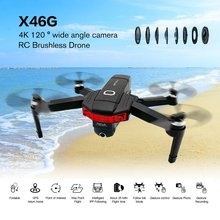 цена на X46G Foldable 4K HD Camera Drone With Camera HD Optical Flow Positioning Quadrocopter Altitude Hold FPV Quadcopter RC Helicopter