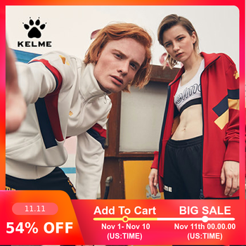 Kelme sport warm retro fashion leisure trend jacket training suit 3881328 - DISCOUNT ITEM  54% OFF Sports & Entertainment