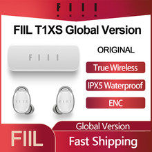 FIIL – écouteurs intra-auriculaires sans fil Bluetooth T1XS TWS, oreillettes de Sport, Version globale IPX5, double micro, suppression du bruit, HIFI