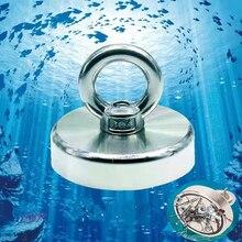 Ímã de neodímio 30 kg 150 kg, ímã super forte, durabilidade magnética permanente de pesca de resgate. Corda do presente 10 metros