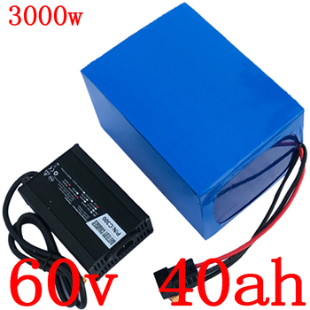 60V 1500W 2000W 3000W eléctrico batería de scooter 60V 40AH 30AH batería de litio para scooter batería de scooter 60V 40AH batería de bicicleta eléctrica + 5A cargador