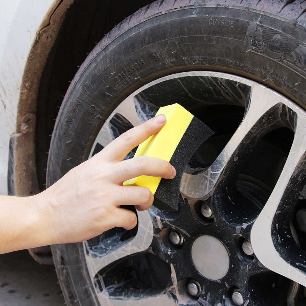 fivekim Car Professional Tyre Tire Dressing Applicator Curved Foam Sponge Pad Tire Accessories