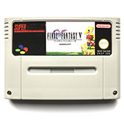 Image 3 - FF V  with box for snes game cartridge