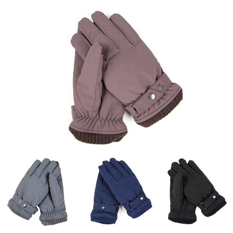 Men's Windproof Outdoor Sport Gloves Winter Warm Mittens Coral Velvet Lining Ski Gloves Winter Snow Gloves Male
