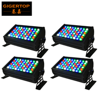 Freeshipping 4XLOT Outdoor Rectangular DMX LED Wall Washer RGBW 54x3W (R:12 G:18 B:18 W:6) Color changing LED Flood Light