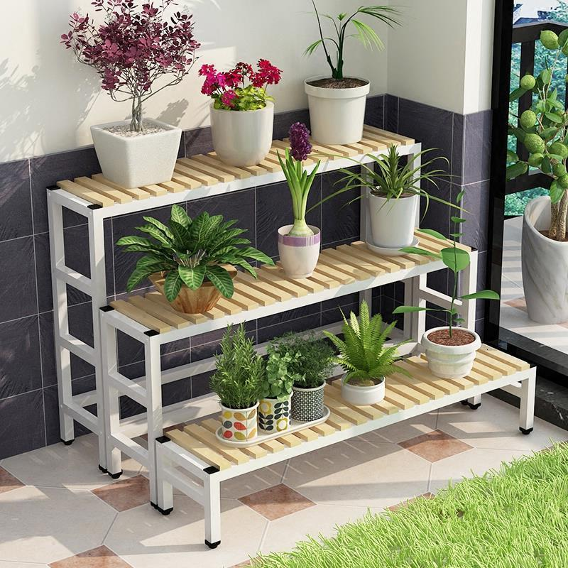 Para Macetas Estanteria Plantas Garden Shelves For Huerto Urbano Madera Dekoration Outdoor Stand Rack Balcony Flower Plant Shelf