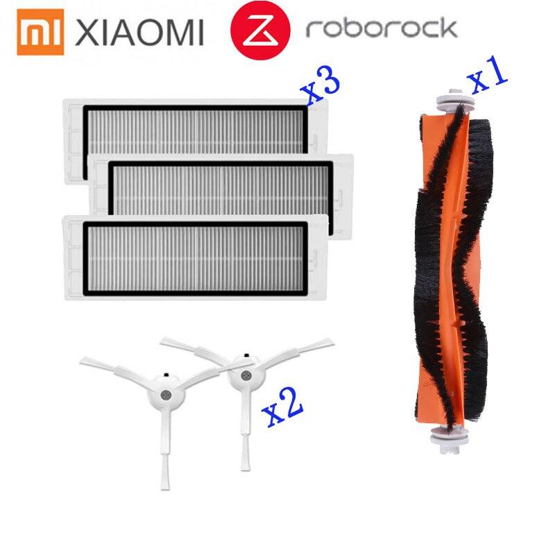Original Accessories For XIAOMI MI Robot Vacuum Side Brush 2pcs HEPA Filter 2pcs Main Brush 1pcs Cleaning Tool 1pcs Cleaner Parts