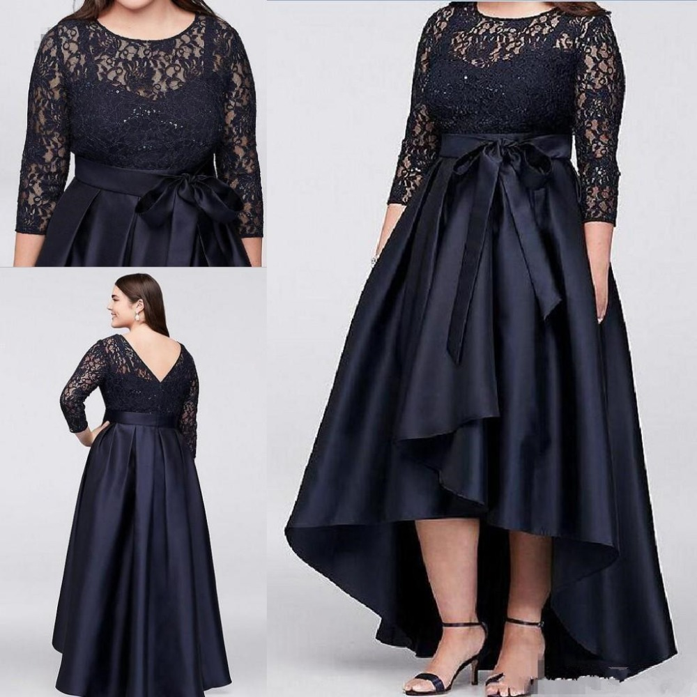 Beaded Plus Size Mother of the Bride Dresses 2020 vestido de madrinha A Line Vintage Lace Long Sleeves Formal Evening Party Gown