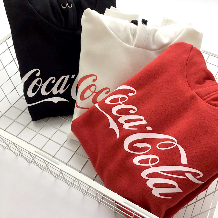 Teenager Spring And Autumn Hoodie Base Tide Ride Casual Loose-Fit Swearing Street Cocoa Cola Hoodie